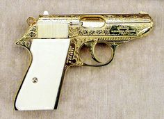 "Elvis' gold gun that he gifted to Jack Lord of ""Hawaii Five-0"" fame. It was found in his estate after he and his wife died"