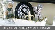 Monogrammed frame