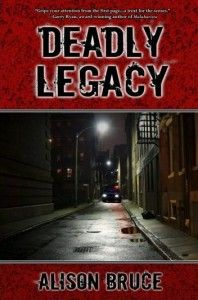 """#kindledeal #mystery """"DEADLY LEGACY"""" by Alison Bruce DEADLY LEGACY by Alison Bruce Discountedfor a limited Time ONLY to $1.99 Even in the future, the past can kill you… In 2018, rookie detective Kate Garrett lives in the shadow of her near-legendary father Joe. When Joe dies unexpectedly, he leaves Kate half interest in Garrett Investigations, his last case that ties to three murders, a partner she can't stand and a legacy to live up to. Jake Carmedy has lost a"""