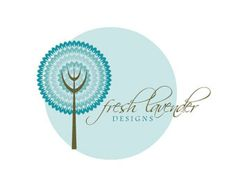 GRAND OPENING SALE Premade Logo for Photographers and Small Crafty Boutiques Blue Layered Tree