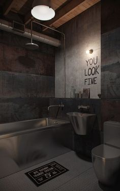 Den-loft / Nordes . . . Industrial Stainless steal  living..