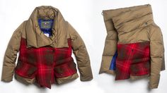 The Griffin Womens Short Down Coat in #ITSArtea & #HarrisTweed #LoveLife #fashion #womenswear