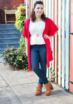 Try wearing a button-down dress as a cardigan. Unexpected and super cool! #fall #style