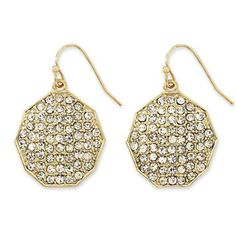 nicole by Nicole Miller® Octagon Earrings - jcpenney $15