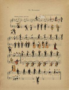 Volinka Art Print by peopletoo - X-Small Music Artwork, Art Music, Sheet Music Art, Desenhos Harry Potter, Poster Prints, Art Prints, Music Notes, Aesthetic Art, Illustrations Posters