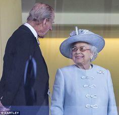 Enjoying the day: The Queen and the Duke of Edinburgh 17 June 2014