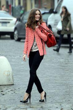 <3 C-O-R-A-L <3 30 Chic-ish Ideas To Wear Tweed Jacket Outfits This Winter | Tweed Jacket Outfits | Fenzyme.com <3