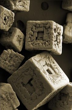 Grains of Salt Under Electron Microscope   fun funny funny pics
