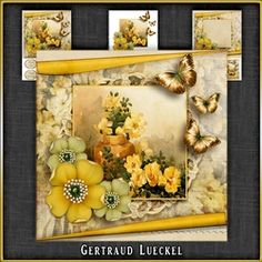 Vintage Flowers Card Kit 1046 on Craftsuprint - View Now!