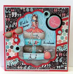 L'étampe du mois d'avril par Sophie Cool Cards, Diy Cards, Scrapbooking, Bow, Avril, Boutique, Stamping, Mixed Media, Crafty