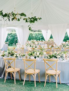 Elegant + organic tented reception: http://www.stylemepretty.com/2016/03/02/tented-receptions-that-take-style-to-new-heights/