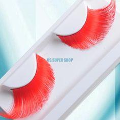 Chic eq9190 rode grote veer valse wimpers wimpers make up # 11 cosplay voor nachtclub in +++features+++100 % nieuw en van hoge kwaliteitGeweldig voor clubbing, partijen, nachten en speciale gelegenheden.Een pe van Valse Wimpers op AliExpress.com   Alibaba Groep