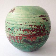 Mobach - Zeer fraai geglazuurde aardewerk vaas