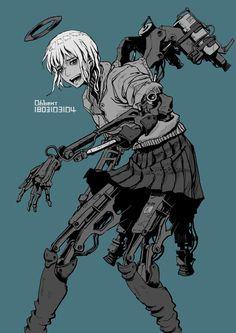 """ジッツ(本物)さんのツイート: """"… """" Arte Cyberpunk, Cyberpunk Aesthetic, Cyberpunk Girl, Cyberpunk Character, Character Concept, Character Art, Cyborg Girl, Arte Robot, Robot Girl"""