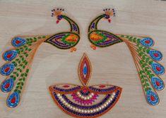 Peacock Rangoli, Blouse Designs, Friendship Bracelets, Jewelry, Art, Fashion, Needlepoint, Art Background, Moda