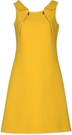 Michael Kors Short Dress in Yellow. Lyst.  This color makes me smile.