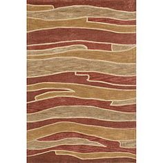 Ackworth Tufted Gold/ Red Rug (710 x 11) - Loloi Rugs, $314.99 | www.findbuy.co/store/overstock-com
