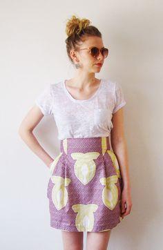 High Waist African Print Skirt by FallFellFallen on Etsy, $95.00