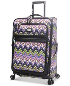 """Steve Madden Patchwork 25"""" Expandable Spinner Suitcase, Only at Macy's"""