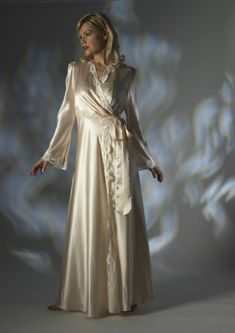 Jane Woolrich Dressing Gown. Visit Renaissance Fine Jewelry in Vermont or a www.vermontjewel.com for the ultimate bridal  jewelry!