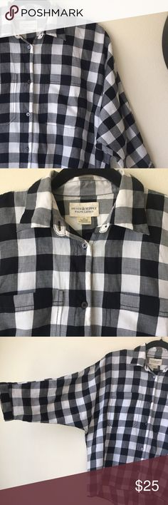 Denim & supply Ralph Lauren button down shirt Denim & supply Ralph Lauren black and white button down shirt with batwing deep armholes. Very stylish! Size:small S but fits a medium too. Please feel free to ask me any questions or measurements I'll be happy to work with you and accept any reasonable offer 😉 Denim & Supply Ralph Lauren Tops Button Down Shirts