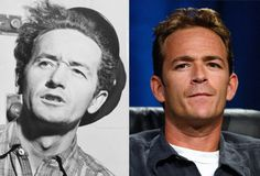 Famous Lookalikes: Woody Guthrie - Luke Perry (Image of Luke Perry provided by Getty Images)