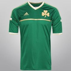 1c5f6b131f6f6 Camisa Adidas Panathinaikos Home 14 15 s nº - Verde+Dourado Netshoes