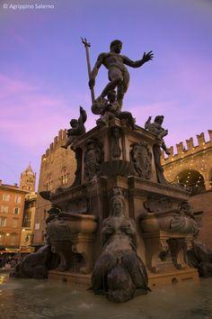 Neptune Fountain, Bologna, Emilia-Romagna, Italy - i dintorni della Locanda #emilia #canonica #montalbano