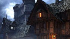 Medieval village Medieval Wallpaper Building