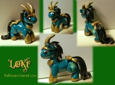 Loki Pony Pendant by *balletvamp on deviantART
