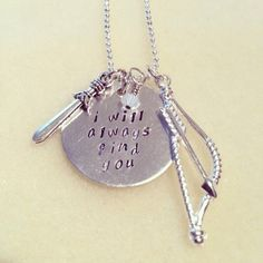 Once Upon A Time Snow and Charming Inspired Handmade Necklace on Etsy, $13.66