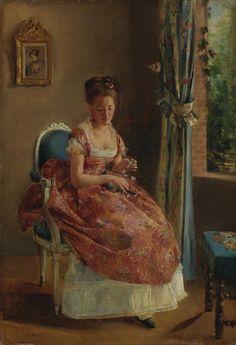 Eva Gonzalès (French, 1849 - 1883): La demoiselle