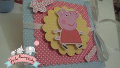 Lindo e delicado convite tema Pepp Pig e/ou George Pig.