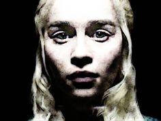 Portrait of Game of Thrones Character Daenerys Targaryen. http://society6.com/AndreJosephMartin #DaenerysTargaryen #Daenerys #got #gameofthrones