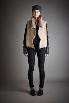 Gushlow And Cole Autumn Winter 14/15 lookbook. Toscana shearling gilet