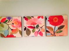 asheville arts & crafts - craigslist Flower Paintings, Small Paintings, Acrylic Paintings, Painting On Wood, Art Flowers, Abstract Flowers, Flower Art, Art Gallery Wedding, Step By Step Painting
