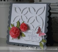 Lattice Bigz, Stampin' Up!, michelle last, mothers day card, bitty butterfly, little leaves sizzlit