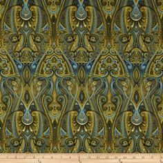 Amazon.com: Timeless Treasures Majesty Metallic Paisley Blue Fabric: Arts, Crafts & Sewing