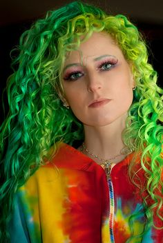 check out 365 days of different hair. this girl continuously dyed her hair and took pictures of the whole process. very cool to look at
