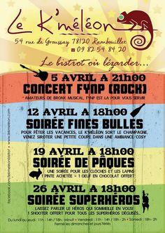 Soirée de Pâques au Kméléon. Le samedi 19 avril 2014 à Rambouillet.  18H00