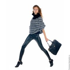 Designer Handknit  Stripped Eco Sweater Handmade from Cashmere and Alpaca