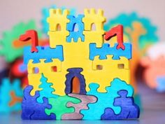 Wooden Puzzle Castle. Handmade kids toy. Wooden ecofriendly handmade toys for children. Ready to ship.. $10.00, via Etsy.