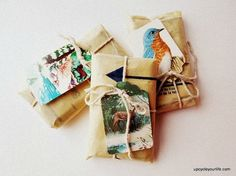 repurpose Christmas cards as gift tags