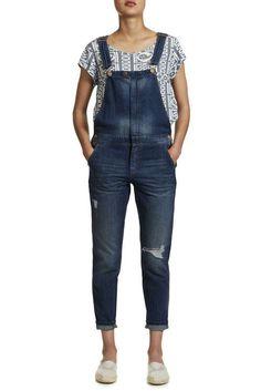 010011a04c3 salopette en jean only onlbedford blue fonce femme salopette jeans femme  Overalls