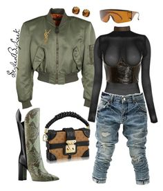 StyledByLeek by stylebywho on Polyvore featuring polyvore, fashion, style, Balenciaga, Kevin Jewelers, Forever 21, Beaufille, BBon-J, Yves Saint Laurent and clothing