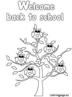 Schoolbag color page School color page, education school