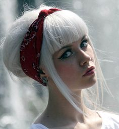 White hair- The Fallen Angel doesn't have to be dark and red to be the devil.