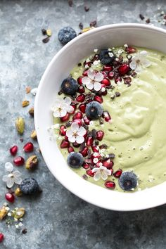 Vegan pistachio milk green smoothie bowl for Heal's