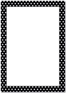 Polka Dot B/W Page Border                                                                                                                                                                                 More