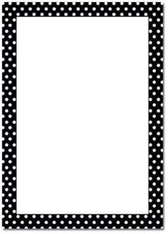 Polka Dot B/W Page Border